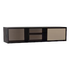 Mabon Wall Storage Unit - Black, Taupe Grey