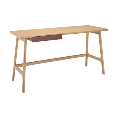 Morey Working Desk - Natural, Penny Brown