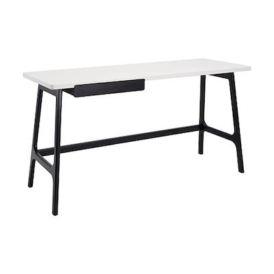 Morey Working Desk - Black, White, Black Ash - Image 1
