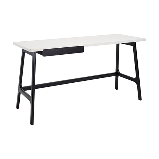 Malmo - Morey Working Desk - Black, White, Black Ash