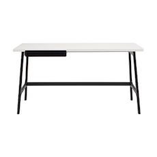 Morey Working Desk - Black, White, Black Ash