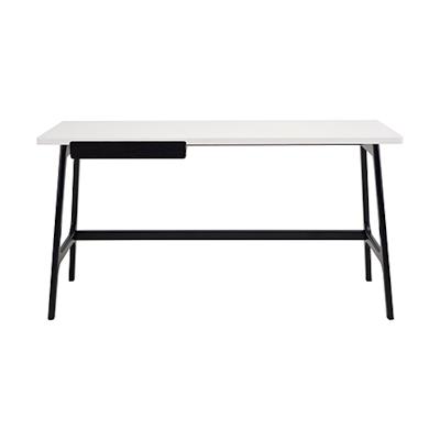 Morey Working Desk - Black, White, Black Ash - Image 2