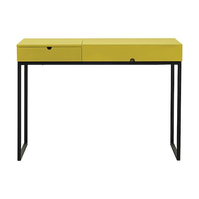 Hermes Working Desk - Matt Black, Olive Yellow - Image 1