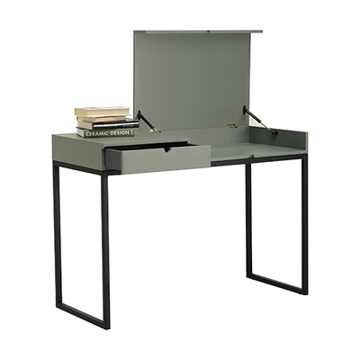 Hermes Working Desk - Matt Black, Olive Yellow
