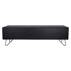 Sydney TV Cabinet - Medium, Black Ash