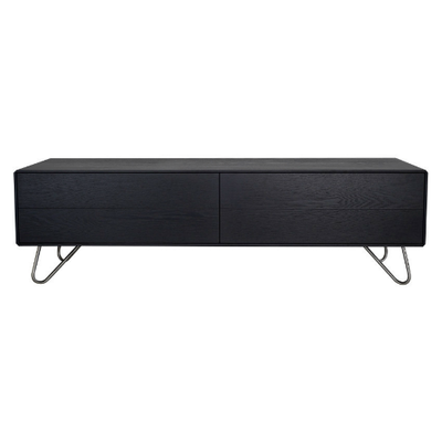 Olivia TV Cabinet - Medium, Black Ash