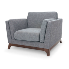 Berlin Single Seater Sofa - Cocoa, Pebble