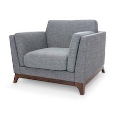Berlin Single Seater Sofa - Cocoa, Pebble