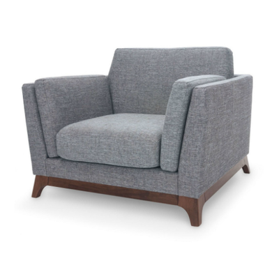 Elijah Single Seater Sofa - Cocoa, Pebble