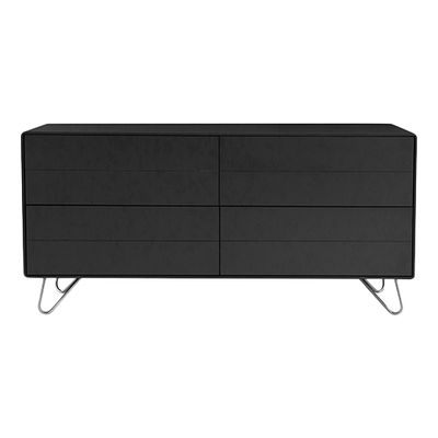 Olivia Sideboard - Charcoal Grey Lacquered, Matt Silver - Image 1