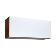 Vito 1M Hanging Cabinet - Walnut, White