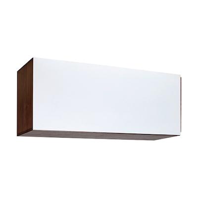 Vito 1M Hanging Cabinet - Walnut, White - Image 1