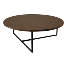 Santorini Coffee Table - Walnut, Matt Black
