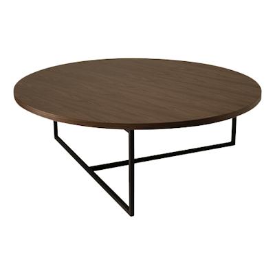 Felicity Coffee Table - Walnut, Matt Black - Image 1