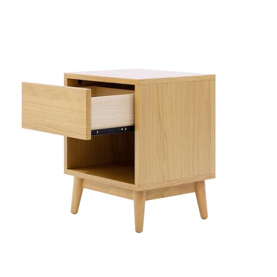 XSX - Kyoto Single Drawer Bedside Table - Oak