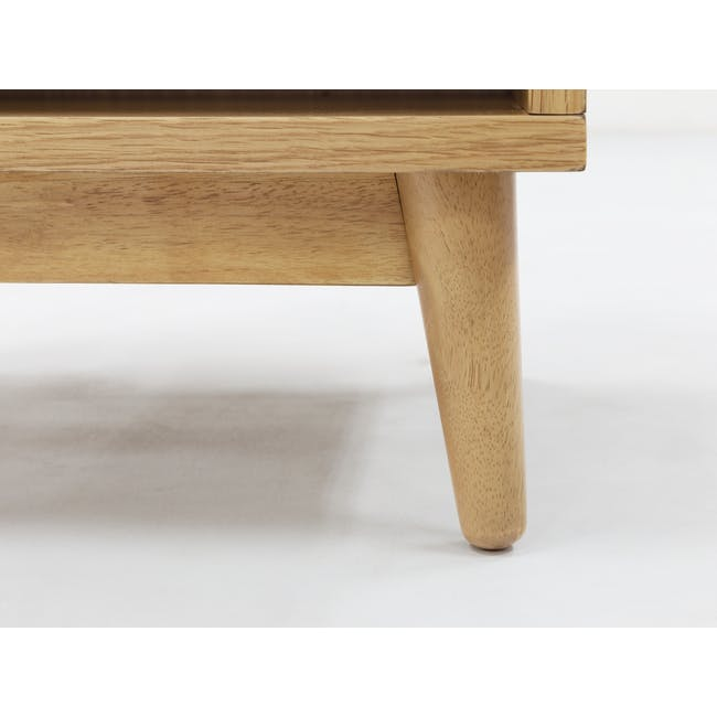 Kyoto Top Drawer Bedside Table - Oak - 7