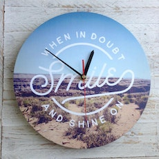 When In Doubt Smile Wall Clock