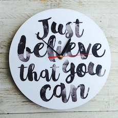 Just Believe You Can Wall Clock
