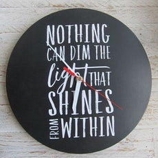 Nothing Can Dim The Light That Shines Wall Clock
