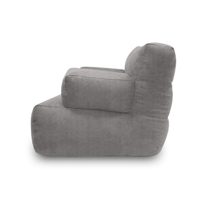 Flabber Bean Bag Sofa - Light Grey - Image 2