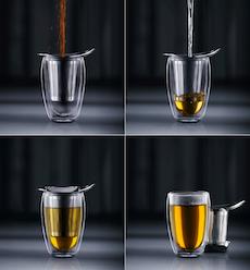 YO-YO Mug and Plastic Tea Strainer, 0.35L/12oz - Orange