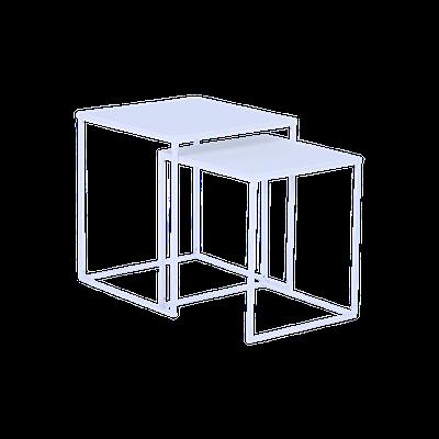 Ashe Nesting Coffee Table - Matte White - Image 2