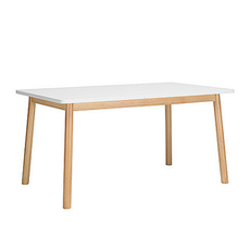 Santorini 6 Seater Dining Table - Natural, White