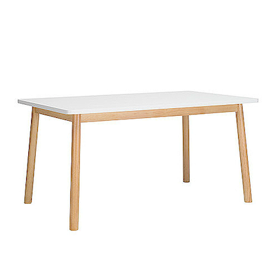 Kendall Dining Table 1.5m - Natural, White - Image 1