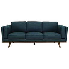 Civic 3-Seater Sofa - Space Blue