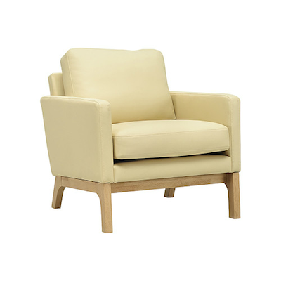 Cove Single Seater Sofa - Natural, Cream