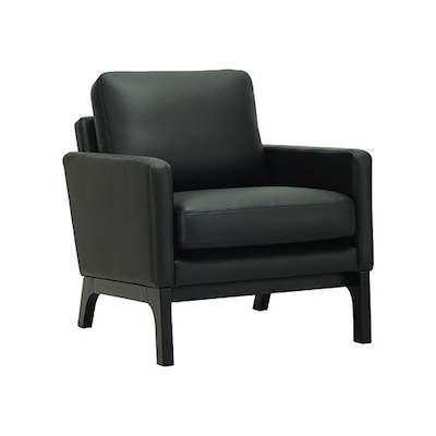 Cove Single Seater Sofa - Black, Espresso