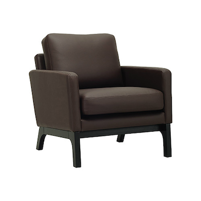 Courtney Single Seater Sofa - Black, Mocha - Image 1