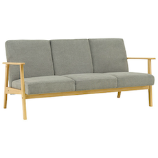 Telford 3-Seater Sofa - Natural, Dolphin