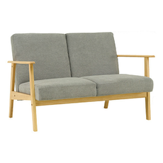 Telford Twin Seater Sofa - Natural, Dolphin