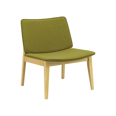 (As-is) William Lounge Chair - Natural, Olive - 1 - Image 1