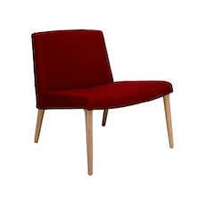 Venza Lounge Chair - Crimson