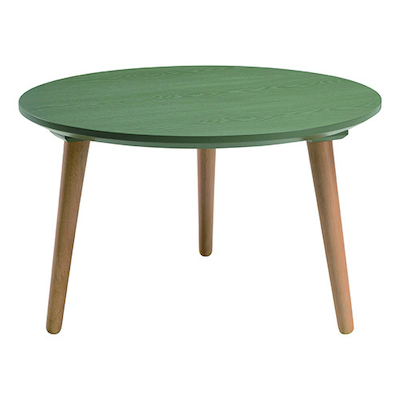 Carsyn Round Coffee Table - Pickle Green