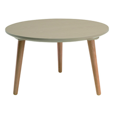 Carsyn Round Coffee Table - Taupe Grey