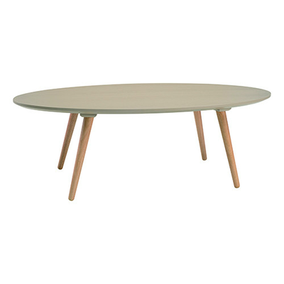 Carsyn Oval Coffee Table - Taupe Grey