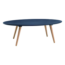 Carsyn Oval Coffee Table - Marine Blue