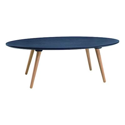 Carsyn Oval Coffee Table - Marine Blue - Image 1