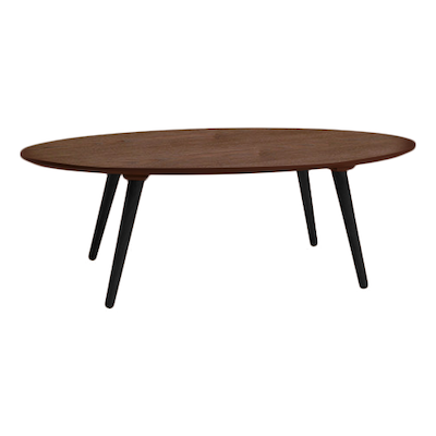 Carsyn Oval Coffee Table - Cocoa