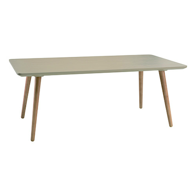 Carsyn Rectangular Coffee Table - Taupe Grey