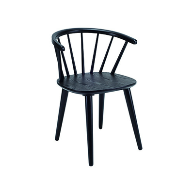 (As-is) Caley Dining Chair - Black -3 - Image 1