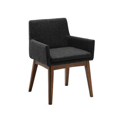 Fabian Dining Chair w/ Armrests - Cocoa, Liquorice - Image 1