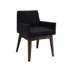 Berlin Dining Chair w/ Armrests - Cocoa, Mud