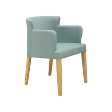 Rhoda Arm Chair - Natural, Aquamarine