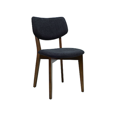 Gabby Dining Chair - Cocoa, Dark Grey - Image 1