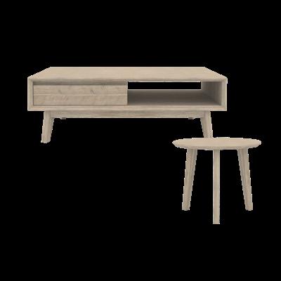Leland Coffee Table with Leland Side Table - Image 1