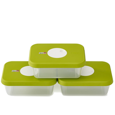 Dial Rectangular Storage Container (Set of 3)